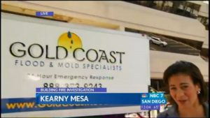 Gold Coast Flood on NBC 7 News Kearny Mesa Fire Cleanup and Water Damage Control
