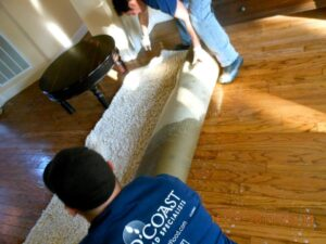 prevent moldy carpet after water damage